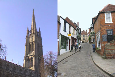 louth, St James' Church and Lincoln
